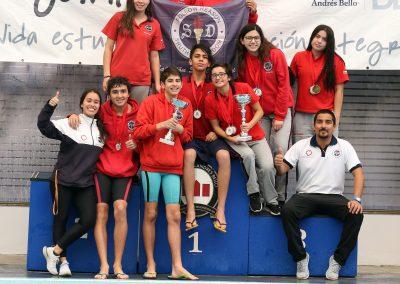 Natación Saint Dominic se consagró como potencia en Interescolar