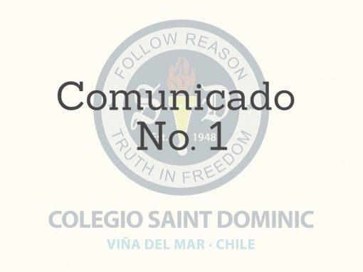 Comunicado Nº 1 – Suspensión de clases