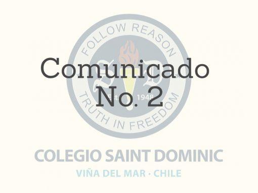 Comunicado Nº2 – Suspensión de Clases